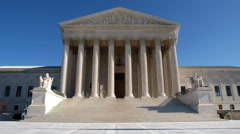 United States Supreme Court with Zoom Stock Footage