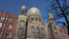 Neue Synagoge (New Synagogue), Berlin, low angle Stock Footage