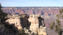Grand Canyon tourist group on edge of beautiful lookout 4K Stock Footage