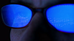Developer with lines of a code. Stock Footage