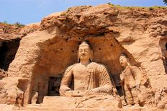 UNESCO Yungang Grottoes Buddhist caves, China - stock photo