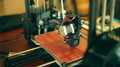 3d printer working Stock Footage