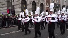 St Patricks Day Dublin Big Music Band Stock Footage