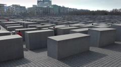 Berlin Holocaust Memorial Stock Footage
