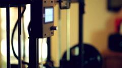 Engineer making measurement 3d printer Stock Footage