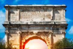 The Arch of Titus, Rome. Italy Stock Photos