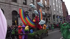 Dublin St Patricks Day Parade Weather People Arkistovideo