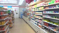 7/11 supermarket convenience stores - stock footage