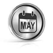 Metallic may calendar icon Stock Illustration