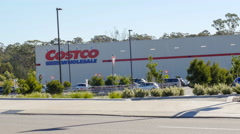 Costco opens second Sydney store in Casula Stock Footage