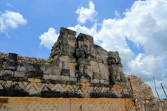 Mayan ruins of Kabah on the Puuc Route, Yucatan, Mexico Stock Photos