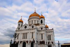 Cathedral of Christ the Savior, Russia - stock photo