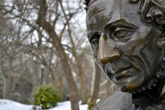 Hans Christian Andersen close up - stock photo