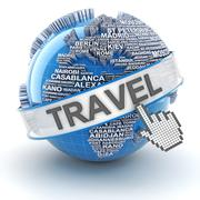 Global travel, 3d render Stock Illustration