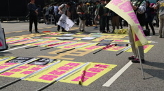 News, demonstrations against nuclear power,manifestation Antinuclear Taiwan-Dan Stock Footage