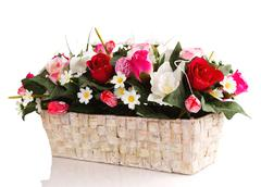 artifical floral arrangement - stock photo