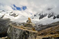 Punta Union, Cordillera Blanca, Santa Cruz Trek, Peru Stock Photos