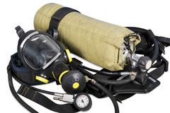 Self contained breathing apparatus Stock Photos