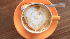 Milk Micro Foam Taste Of Hot Coffee HD Stock Footage
