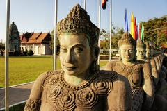 Cambodian Independence Monument in Siem Reap - stock photo