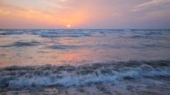 Sunset over the Mediterranean Sea Stock Footage