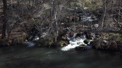 Sedona Arizona beautiful Verde River waterfall 4K 011 Stock Footage