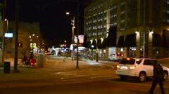 City night establishment shot Stock Footage