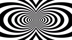Concentric oncoming abstract symbol, infinity - visual illusion Stock Footage