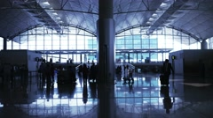 Airport terminal hall. Stock Footage