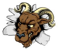 Ram sports mascot breakthrough Stock Illustration