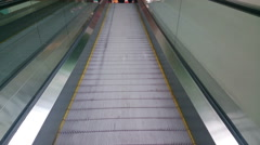 Modern escalator moving up at business, shopping center, airport, HD version Stock Footage
