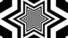 Concentric oncoming abstract symbol, hexagram - visual illusion Stock Footage