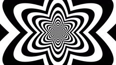 Concentric oncoming abstract symbol, atom - visual illusion - stock footage