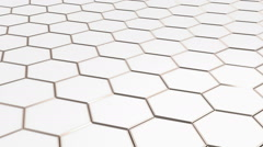 Floating surface made with hexagons. Stock Footage
