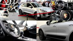 4K montage (compilation) - Porsche Macan Turbo SUV car (exterior and interior) Stock Footage