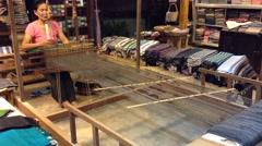 Weaver works Stock Footage