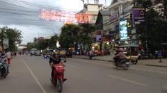 Siem Reap downtown Stock Footage
