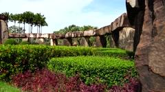 Park. Stonehenge. - stock footage