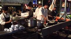 Siem Reap street restaurant Stock Footage