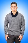 Male sweater isolated on the white Stock Photos
