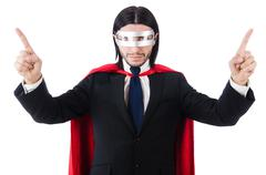 Man wearing red clothing in funny concept Stock Photos