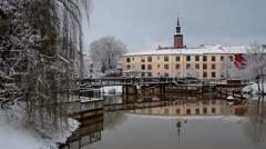 The town Spremberg in Winter Stock Footage