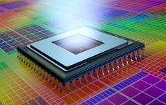 central processing unit, cpu - stock illustration