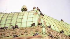 Roof of German fountain, Sultanahmet, Istanbul, tilt shot Stock Footage