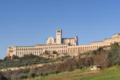 Papal Basilica of St. Francis of Assisi Stock Photos