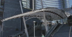 Milano, Gae Aulenti Square, the downstair area. Stock Footage