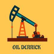 Flat oil derrick or pump jack Piirros
