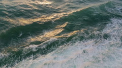 Stock Video Footage of Open sea waves ripples