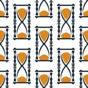Vintage hourglasses or sandglasses seamless pattern Piirros