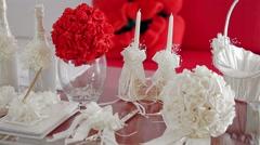 Wedding Accessories - stock footage